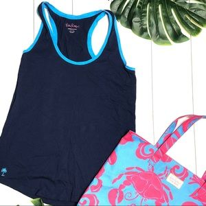 Lilly Pulitzer Racerback Tank and Crab Tote Set
